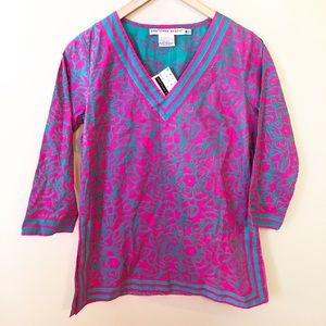Gretchen Scott cornflower tunic